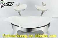 Stainless Steel 2 Tiers Dish/Fruit Ceramic Plates for Party/Wedding