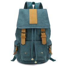 Bearky bag factory custom wholesale canvas leather backpack