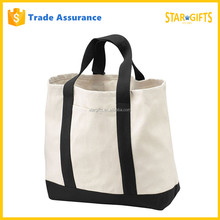 Zip Durable Custom Reusable Foldable Canvas Tote Library Bag