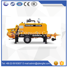 Zoomline high quality diesel concrete pump and mixer