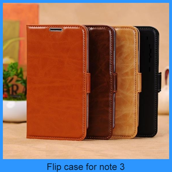 China manufacturer Luxury premium Imitated genuine flip mobile phone leather case for galaxy note 3 (PT-SN3L209)