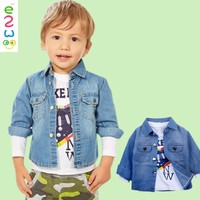 autumn baby jeans coats boys kids denim jacket children shirts long sleeve British Pants 3pieces Sets
