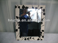 Fabric wall mirror ,square hanged wall mirror