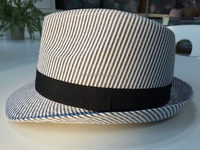 Wholesale Stripe Fabric Fedora Hat for kids and Mens
