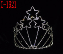 "Wholesale 5"" tall star shaped pageant tiara"