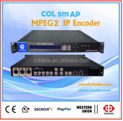 High compatibility MPEG-2 IP encoder with CVBS,S-Video,SDI,AES,EBU input