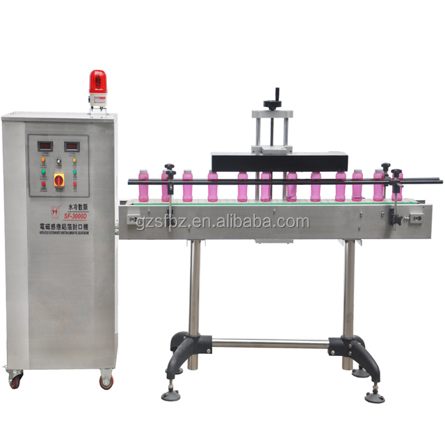 China supplier automatic plastic bottle aluminum foil induction sealing machine