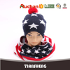 Fashion American Flag Hat And Scarf