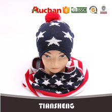 Fashion American flag hat and scarf sets wholesale
