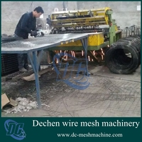 2015 Hot Sale Operation Full Automatic Rabbit Cages Mesh Welding Machine Equipped with Mesh Cutting Device