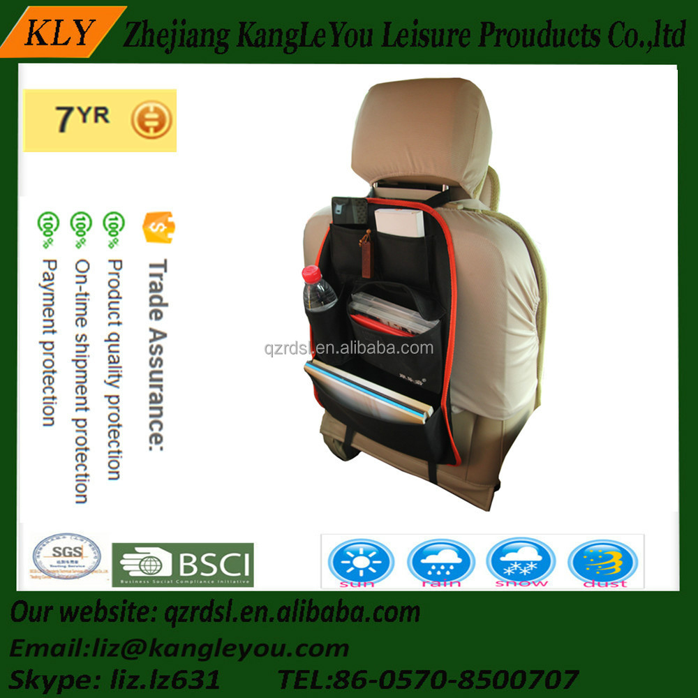 Hanging foldable behind the seat organizercar Organizers car seat back mats with mesh pocket car