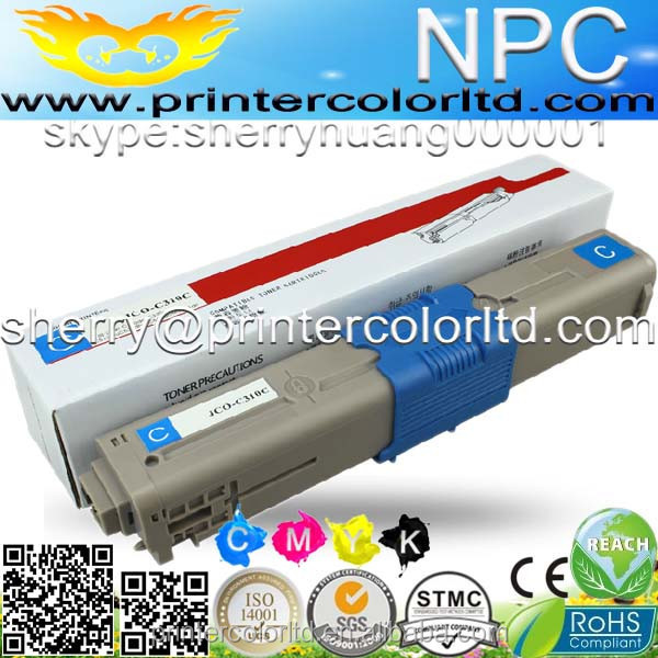 for OKI MC561) Color laser toner cartridge ceramic toner for OKI MC 561DN C562DN MFP 44469753 44469752 (5k/5k pages)