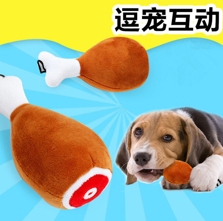 pet dog Chicken Drumsticks toy pet plush toys for dog sounding dog toy