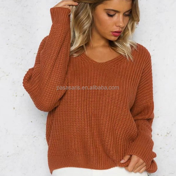AL2867W Stylish knitting pullover lace up autumn sweater hollow out jumper lady tops winter clothes