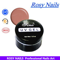 ROSY Nails art design free samples french nails pink camouflage uv nail gel