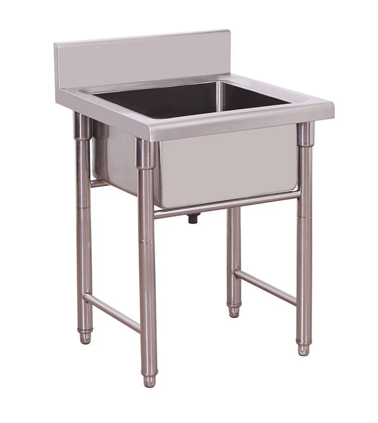 Single Bowl Stainless Steel Handmade Kitchen Sink Restaurant Sink ...
