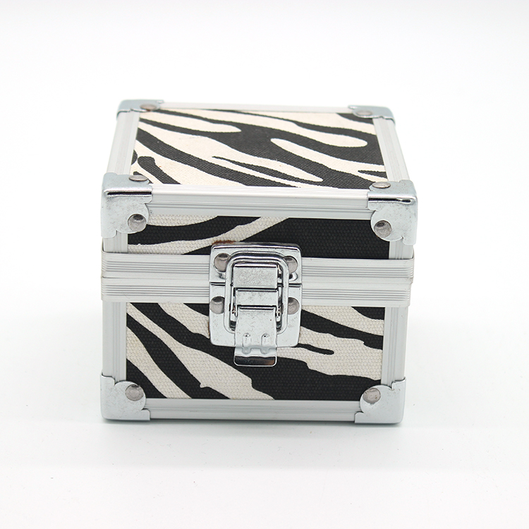 Aluminum small ring show box jewelry tool holder storage case