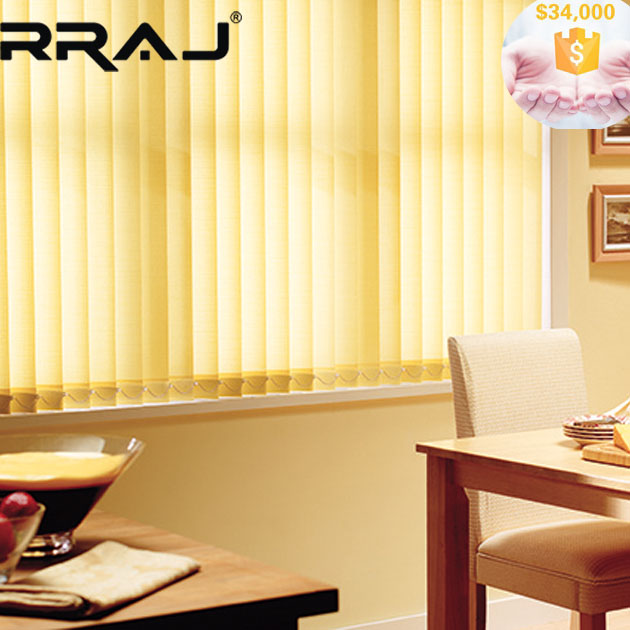 RRAJ Guide Rail Vertical Blind with Sheer