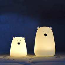 Cute LED Children Night Light Multicolor Silicone Soft Baby Nursery Lamp Portable Silicone Nursery Night Lamp