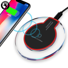 wireless charger crystal round charging pad for <strong>phone</strong>