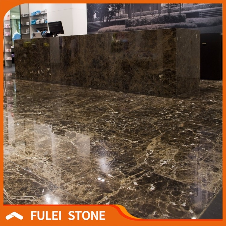 Cheap dark brown chocolate emperador marble tiles and marbles slabs