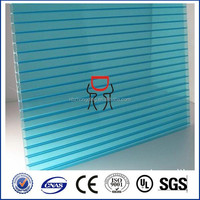 Zhongding brand 100% bayer polycarbonate hollow colorful pc sheets