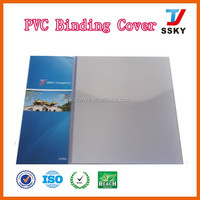 Plastic a4 file book cover binding sheet plastic cover with pvc material