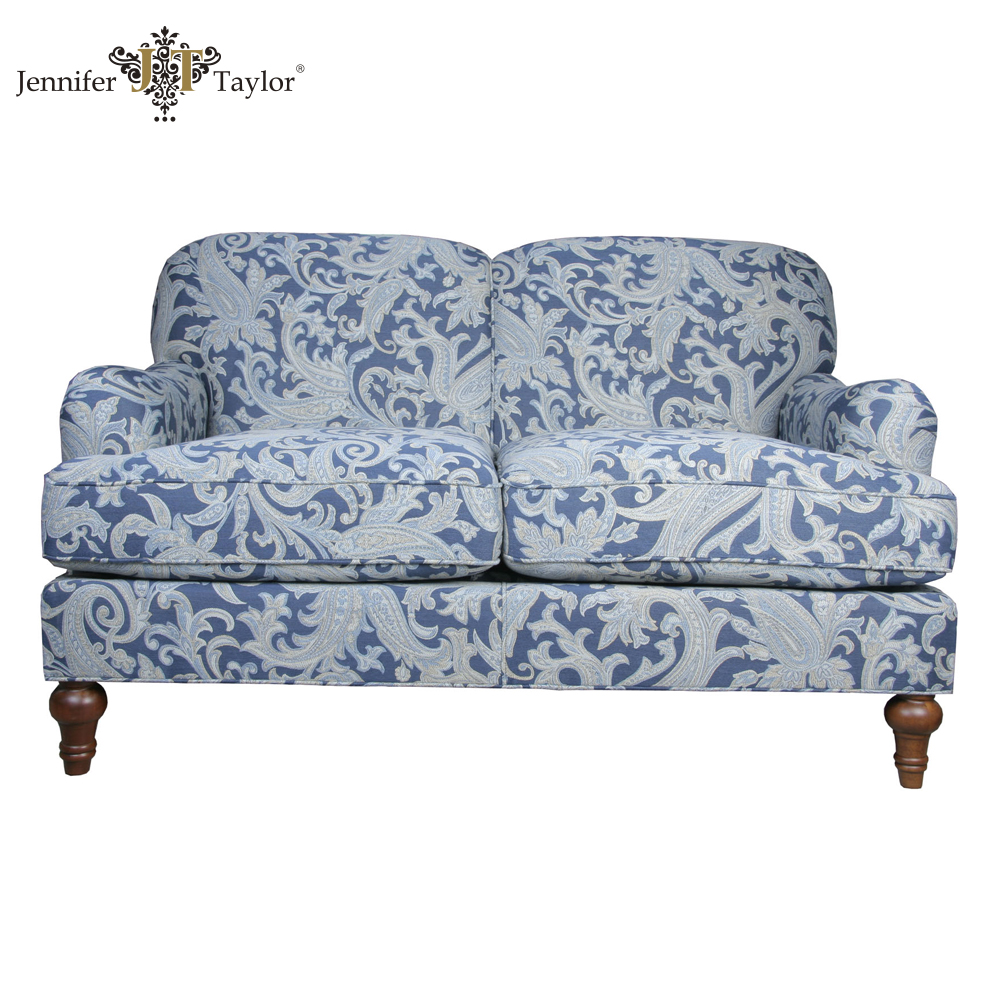American design contrast color fabric sofa set 2 seat sofa