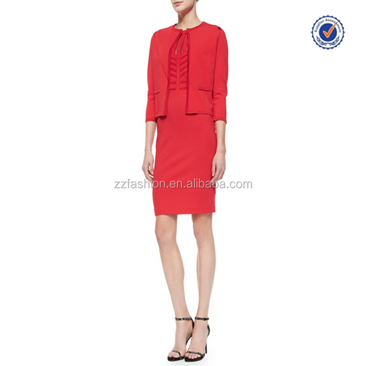 Alibaba wholesale clothing in turkey high quality elegant ladies red ankle-length suits dress