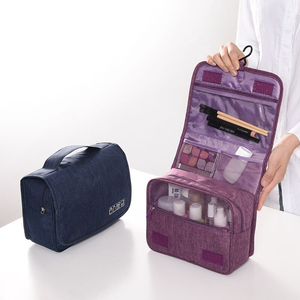 Hanging makeup case toiletry portable organizer travel waterproof cosmetic bag