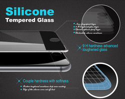 Brand Vmax! 0.20mm transparant silicone soft ring full screen mobile phone tempered glass screen protector for iphone6s plus