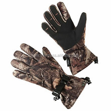 High Quality Waterproof Leather Camo Hunting Gloves