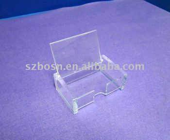 clear plastic business card storage card drop box