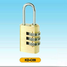 3-dial small decorative combination brass lock