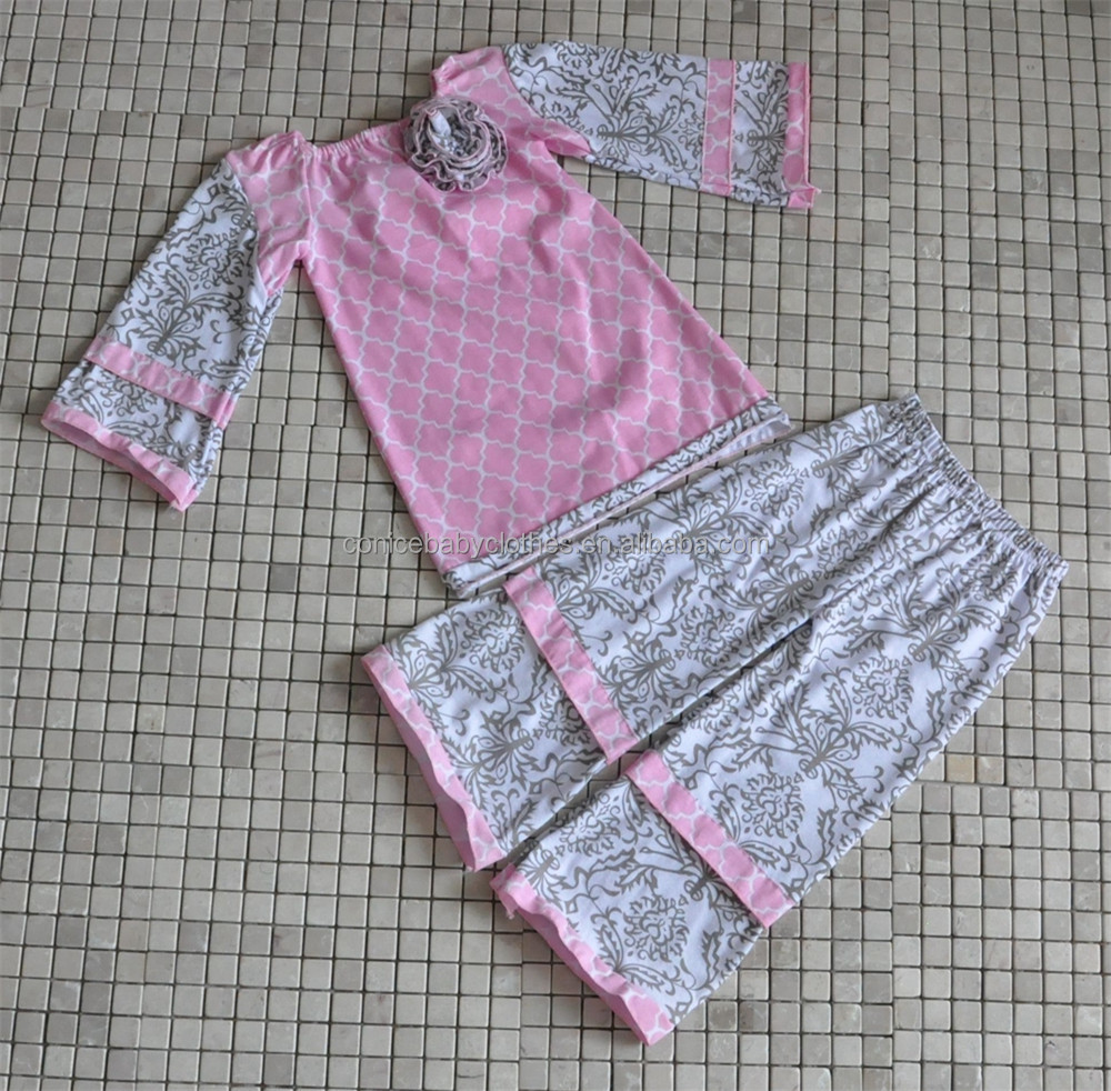 Trendy Western Girls Clothes Kids Winter Fall Ruffled Outfits