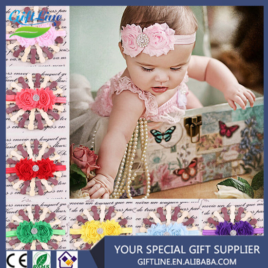 Hot Selling Lovely Baby Head Bands/Flower Headbands With Bead/New Born Baby Accessories