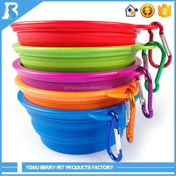 Wholesale China Products silicone dog bowl With Hook