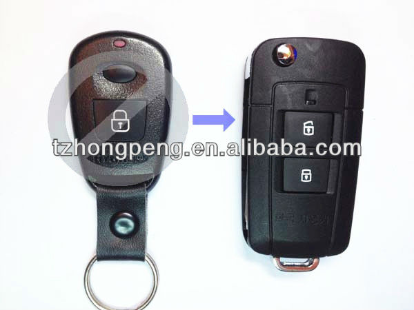 factory direct 2 button modified hyundai elantra remote flip key shell for Hyundai car key cover