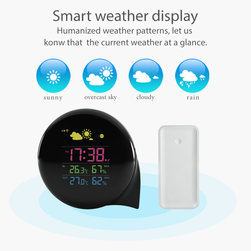 2017 Wholesale new digital multi weather station thermometer unique design