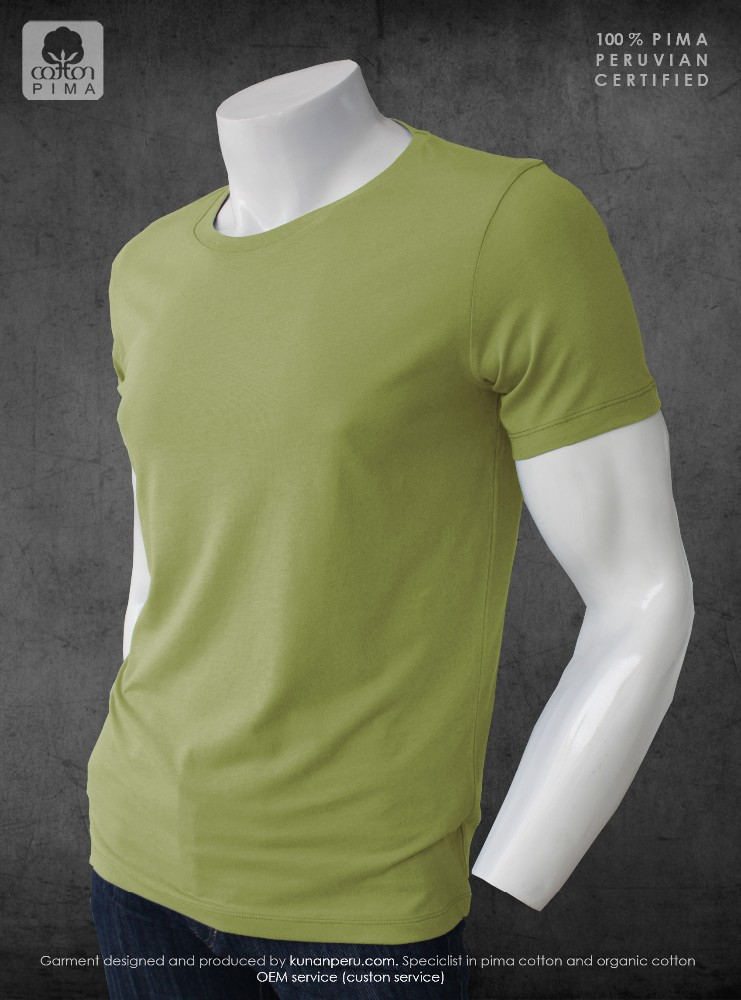 100% Peru pima cotton t shirt blank