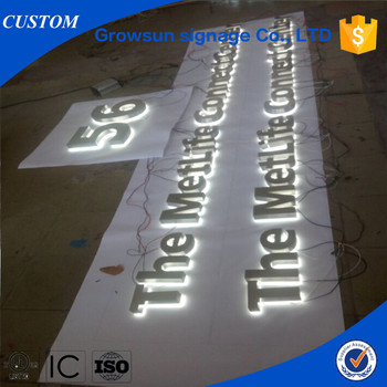 White Backlit LED Aluminum Letter Signs