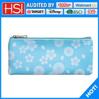 customized cute printed PU pencil case for girls