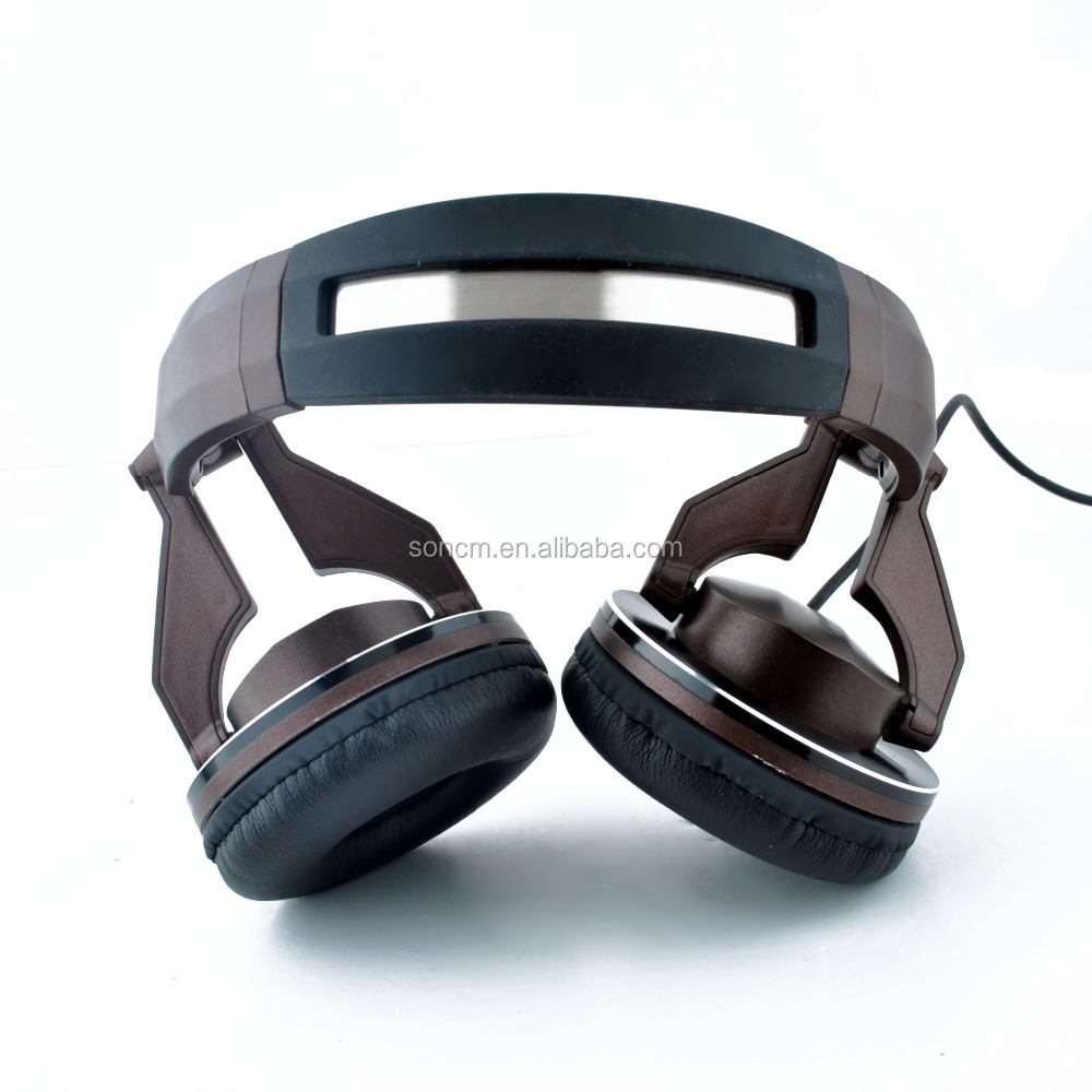 Over ear high Quality Fashion wired DJ headsets with foldable ,Convertible fidelity headphones