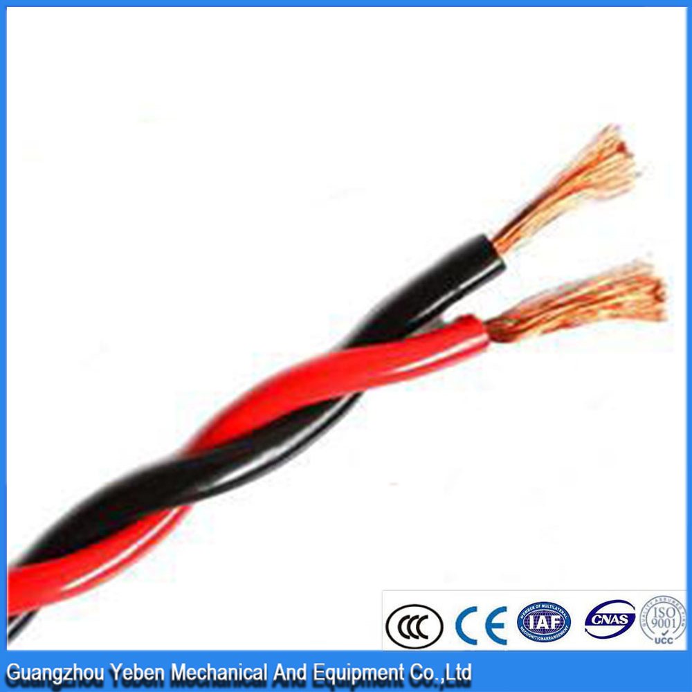 two core electrical conductor insulator fire resistant twinsted cable