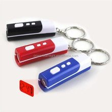 Mini Digital LCD Projector Projection Time Alarm Clock Keychain