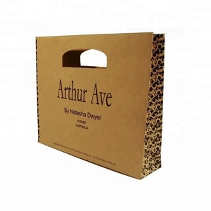 Custom recyclable kraft packaging gift luxury paper shopping bag