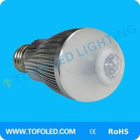 Automotically lighting 6w LED Motion Sensor Bulb