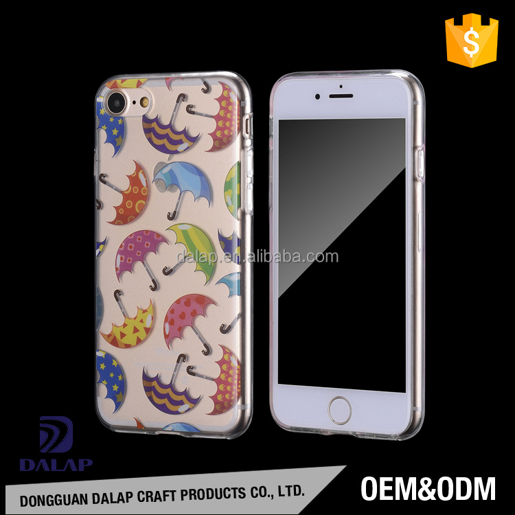 Factory price MOQ=50pcs free sample clear tpu case for iphone 6 7