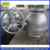 Stainless Steel 2 - PC Flange Ball Valvewcb cast iron/ electric actuated /soft seal/ water/ gate valves