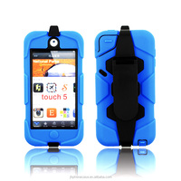 Anti-drop dustproof protector rubber case for Apple iPod touch 5 touch 6 clip cover
